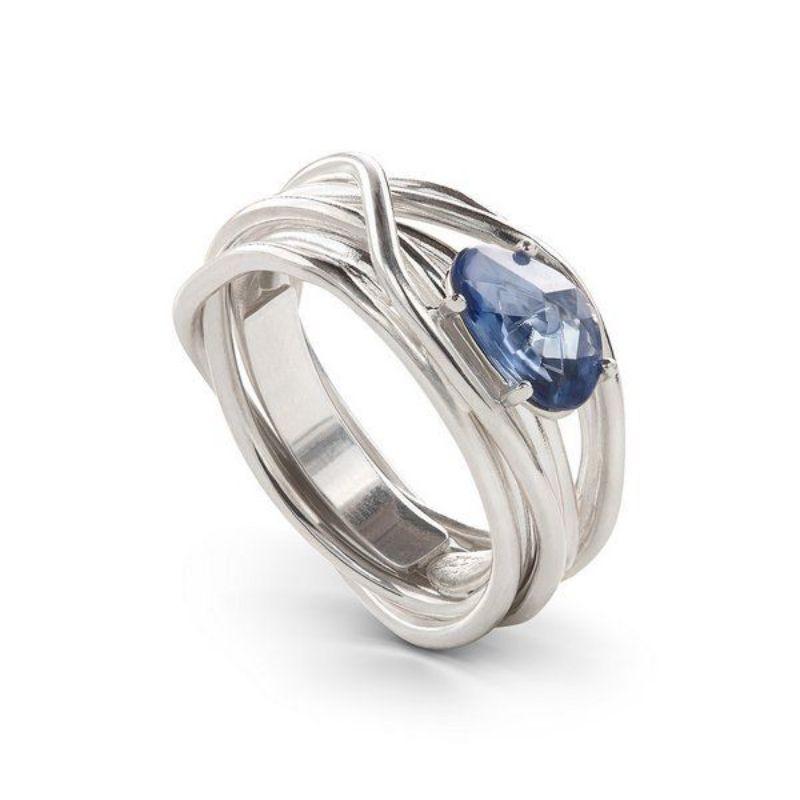 Filodellavita-anello-Luce--collezion--7-fili-oro-bianco-750/°°°-e-zaffiro-blu