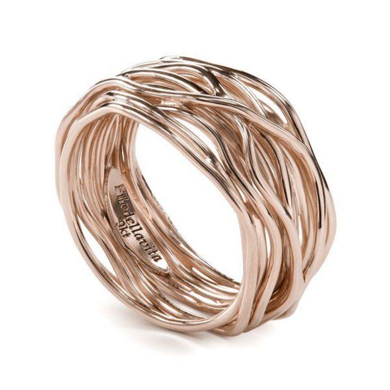 Filodellavita-anello-13-fili-oro-rosa-375/°°°-