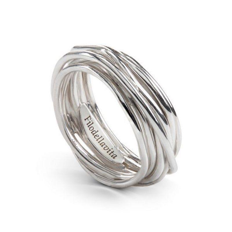 Filodellavita-anello--7-Fili-argento-925/°°°