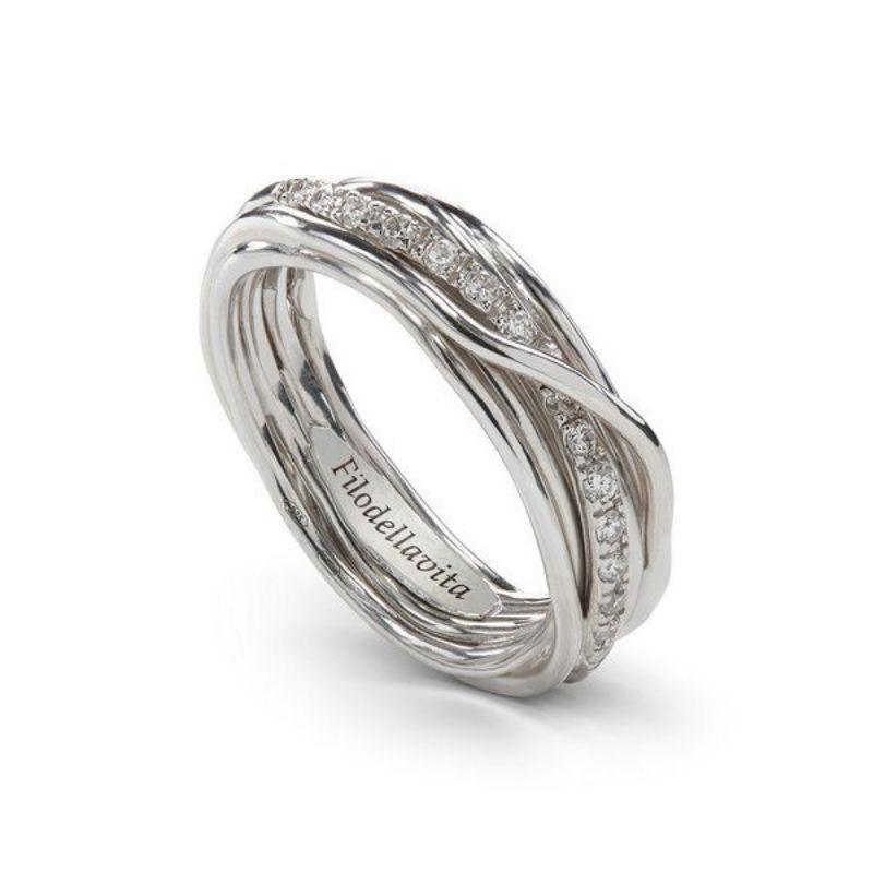 Filodellavita-anello-7-fili-argento-925/°°°-e-diamanti-bianchi-(0,21-ct)