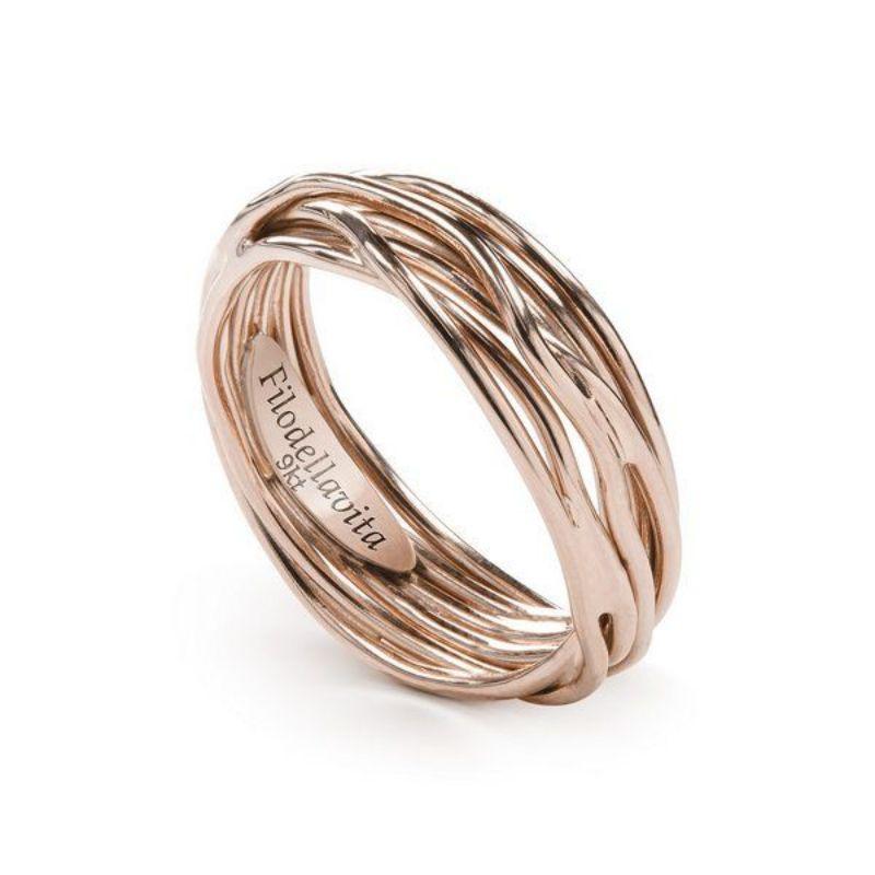 Filodellavita-anello-7-fili-oro-rosa-375/°°°